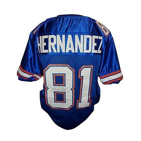 Aaron Hernandez Autographed Florida Gators (Blue #81) Custom Stitched Jersey - AH Holo
