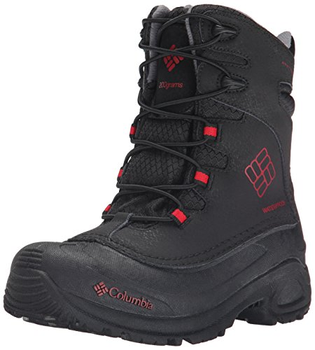 Columbia Youth Buga Plus I OH Winter Boot (Little Kid/Big Kid), Black/Rocket, 3 M US Little Kid
