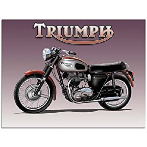 Amazon.com: Triumph Motorcycle Metal Sign: Motorcycles and
