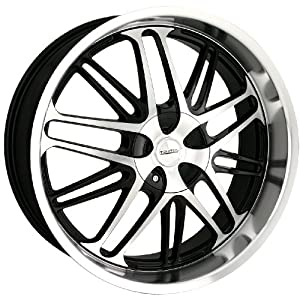Touren TR7 3170 Black Wheel with Machined Face and Lip (18x8
