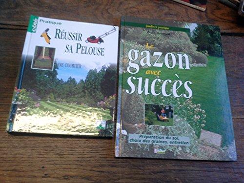 lot-de-2-livres-reussir-sa-pelouse-le-gazon-avec-succes-