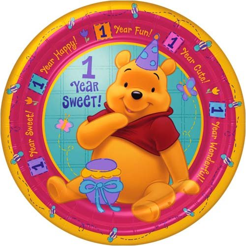 Pooh's First Birthday Dinner Plates - 1