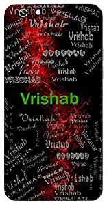 Vrishab (Excellent) Name & Sign Printed All over customize & Personalized!! Protective back cover for your Smart Phone : Moto G3 ( 3rd Gen )