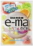 味覚糖   e-maのど飴袋カラフルフルーツチェンジ  50Gフクロ×6袋