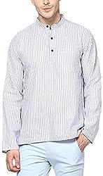 EVEN Men's Cotton Regular Fit Kurta(SSK MMS938 CR01, Cream, XS)