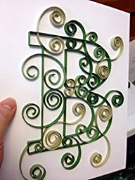 Custom Created Quilled Letters - 8x10