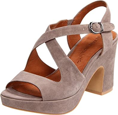 Gentle Souls Women's Lone Eagle Platform Sandal,Charcoal,9.5 M US