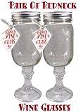 Wine Glass Stemware, Set of 2