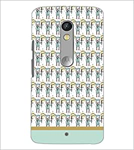 Printdhaba Cartoon Pattern D-1927 Back Case Cover For Motorola Moto X Play