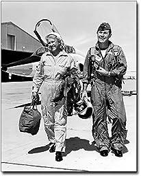 Chuck Yeager & Jackie Cochran 8x10 Silver Halide Photo Print