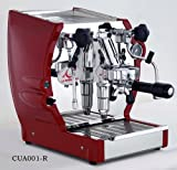la Nuova Era Cuadra Semi-Professional Espresso and Cappuccino Machine, Single Group, 1.8 Liter Boiler, Red and Stainless Steel