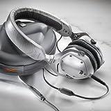 V-MODA XS On-Ear Folding Design Noise-Isolating Metal Headphone (White Silver)