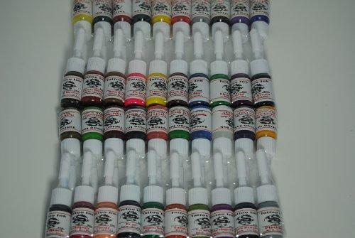 1tattooworld premium tattoo ink set 40 color 5ml each for Grasshopper tattoo supply