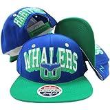 Hartford Whalers Royal Blue/green Snapback Adjustable Plastic Snap Back Hat / Cap