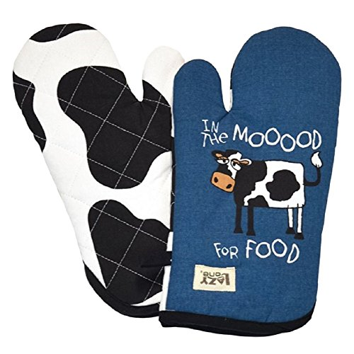 In The Mooood For Food Oven Mitt (Cow Pot Holders And Oven Mitts compare prices)