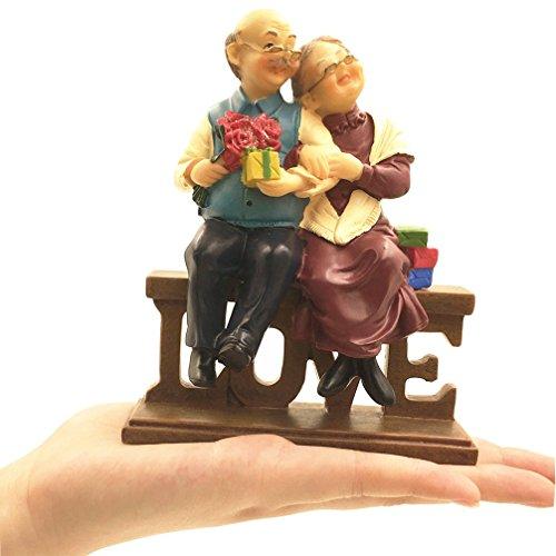 Coostyle Loving Elderly Couple Figurines, Old Age Life