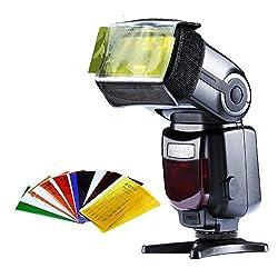 Neewer 6 in 1 Flash Speedlite Accessories Kit Softbox + Reflector + Honey comb + Color Filters + Snoot + Speedlite Holder for Digital SLR Cameras