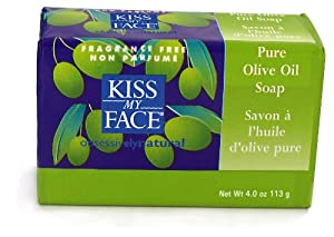 Kiss My Face Pure Olive Oil Bar Soap - 4 Oz, 18 Pack