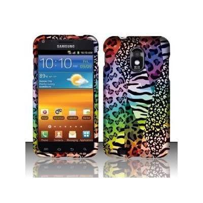 VMG 3-Item Wall Charger Bundle for Samsung Galaxy S II S2 4G D710 (Sprint, Ting, Boost, Virgin Mobile) Cell Phone Graphic Image Design Faceplate Hard Case Cover - Chameleon Leopard Safari + LCD Clear Screen Saver Protector + Premium Home Wall (Wall Outlet) Travel Charger deal 2015