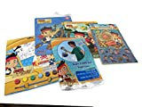 Disneys Jake and the Never Land Pirates - Super Paddle Ball - Coloring Book - Sticker Album with Stickers - 16 Piece Puzzle - Coloring Paint Set Water Based - Gift Set Bundle