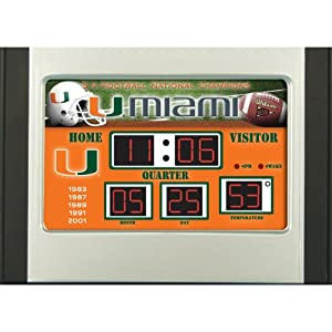 Buy Team Sports America Miami Florida Hurricanes Scoreboard Desk Clock by Team Sports America