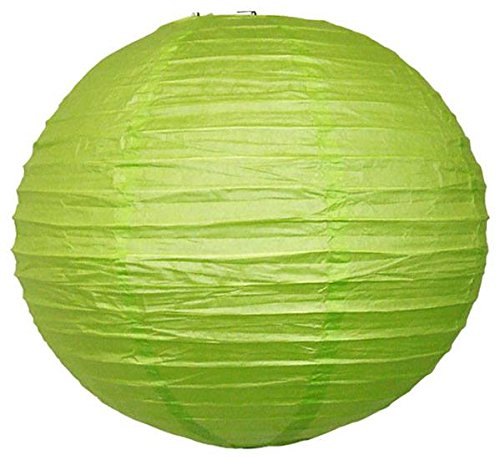 """Perfectmaze 6 Piece 12"""" (Inch) Round Chinese Paper Lantern For Wedding Party Engagement Decoration_Apple Green"""
