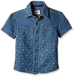 UFO Boys' Shirt (AW16-WF-BKT-252_Indigo Light_4 - 5 years)