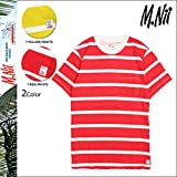 (エムニーイ)M.NII MENS T-S ボーダー ティーシャツ M RED/WHITE (並行輸入品)