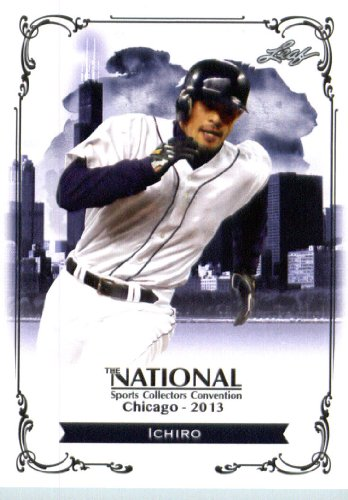 2013 Leaf Trading Card # N I1 Ichiro National Sports Collector'S Convention Exclusive Shipped In Protective Screwdown Case