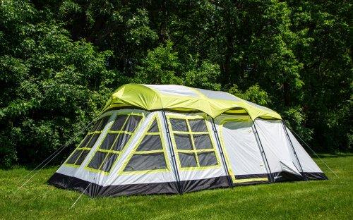 Tahoe Gear Glacier 14 Person 3-Season Family Cabin Camping Tent - Green/Grey (Tahoe Gear compare prices)