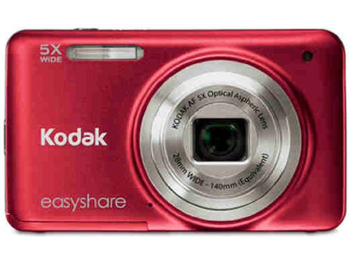 Kodak 8013054 Easyshare M5350 16MP 5X Digital Camera (Red)