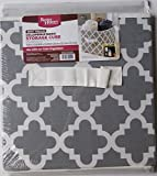 Better Homes and Gardens Collapsible Fabric Storage Cube - Gray Trellis