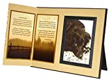Pet Lover Remembrance Gift, I Loved You Best Poem, Memorial Pet Loss Picture Frame Keepsake and Sympathy Gift Package, with optional custom photo editing, Ginger with Foil Accent
