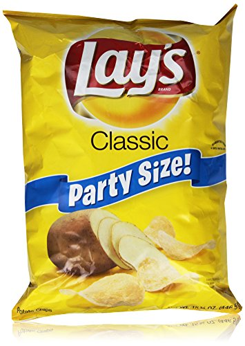 Lay's Potato Chips, Party Size Classic, 15.75 Ounce