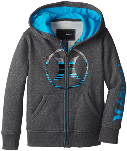 Hurley Little Boys' Icon Loose Fit Hoody, Medium Grey Heather, 5 front-1021802
