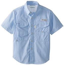 Columbia Boy\'s Super Bonehead Short Sleeve Shirt (Youth), White Cap, Small