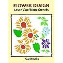 Flower Design Laser-Cut Plastic Stencils (Dover Stencils)
