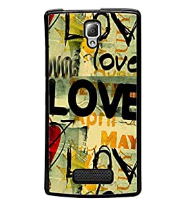 Love Wallpaper 2D Hard Polycarbonate Designer Back Case Cover for Lenovo A2010
