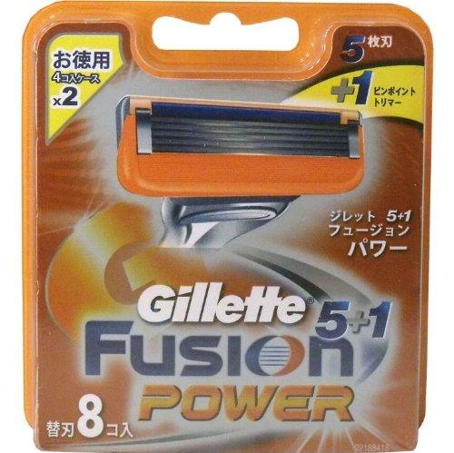 ジレット フュージョン5+1 パワー 替刃 8個入