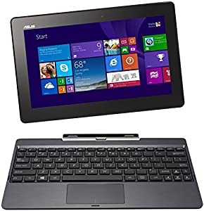 ASUS Transformer Book T100 10.1-inch Convertible Tablet with Detachable Keyboard (Intel Atom Z3775 1.8GHz, 1.33 Base Frequency 2GB RAM, 32GB SSD, WLAN, BT, Integrated Graphics, Windows 8.1)
