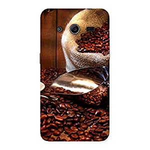 Cute Coffee Beans Brown Back Case Cover for Galaxy Core 2