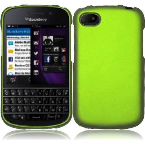 Cell Accessories For Less (Tm) For Blackberry Q10 Rubberized Cover Case - Neon Green // Free Shipping By Thetargetbuys