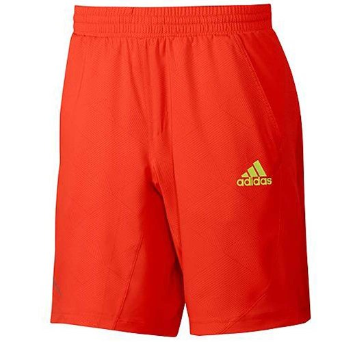 Adidas Mens Adizero Bermuda Tennis Court Shorts - Orange -