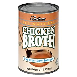 Shelton's Chicken Broth, Fat Free - Low Sodium, 14.5-Ounce Cans (Pack of 12)