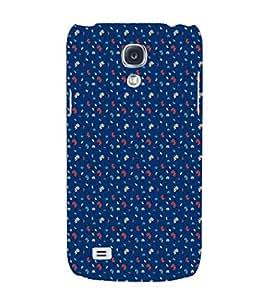 EPICCASE blue flowers Mobile Back Case Cover For Samsung Galaxy S4 (Designer Case)