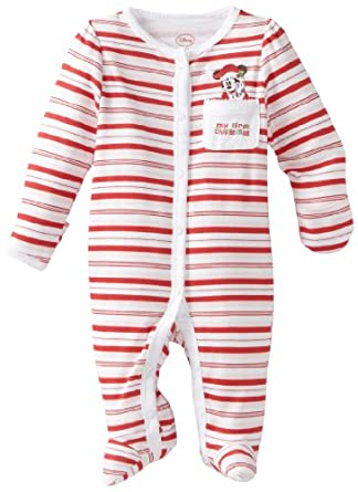 b6c7f4472 Disney Baby-Girls Newborn Minnie Mouse My First Christmas Sleep And Play  Romper