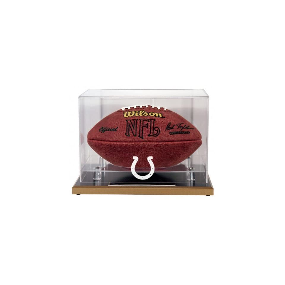 Indianapolis Colts Wood Base Football Logo Display Case