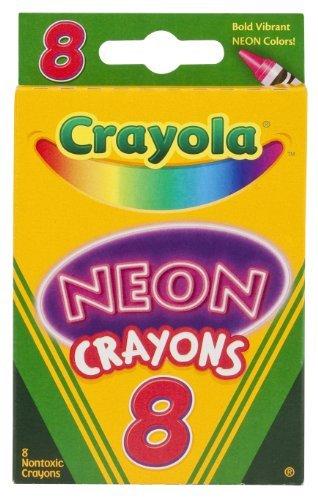Crayola Neon Crayons, 8 Count - 2 Packs
