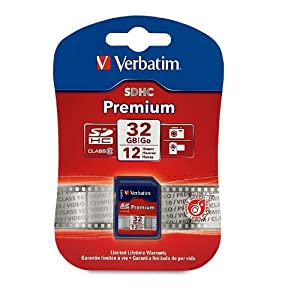 Verbatim Premium 32 GB Secure Digital High Capacity (SDHC) -Class 10 -1 Card/1 Pack