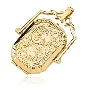 Large Swivel Locket in 14 Karat Yellow Gold